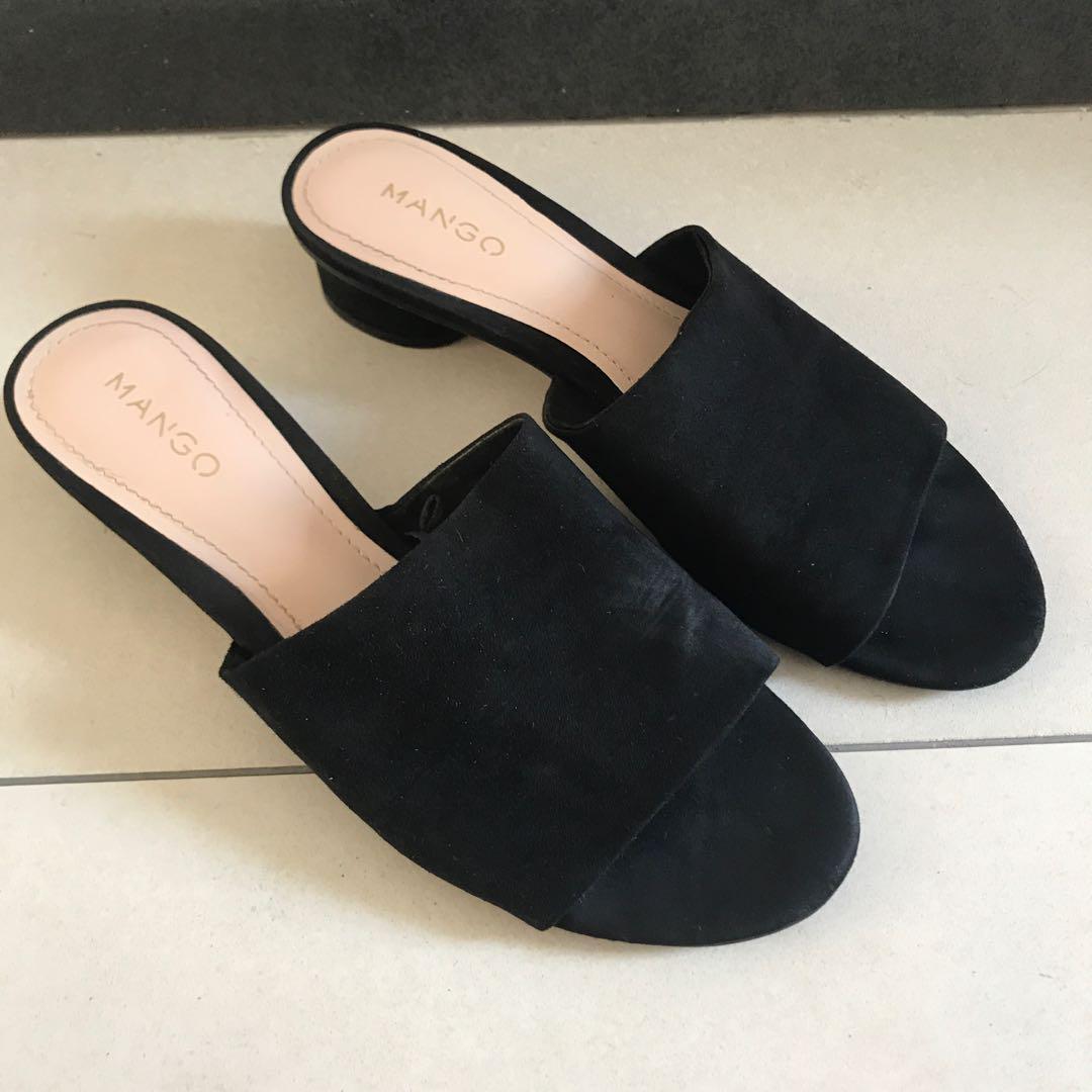 Mango Sandals / Black Mules, Women's