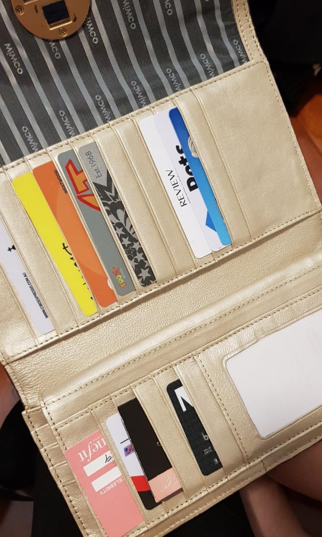 Mimco large tan wallet