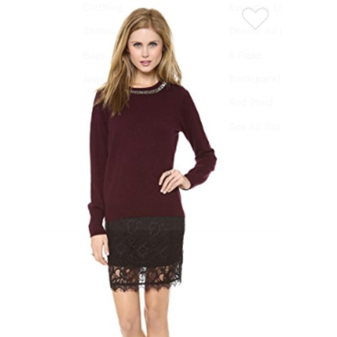 Myne Vienna Lace Pencil Skirt size 6