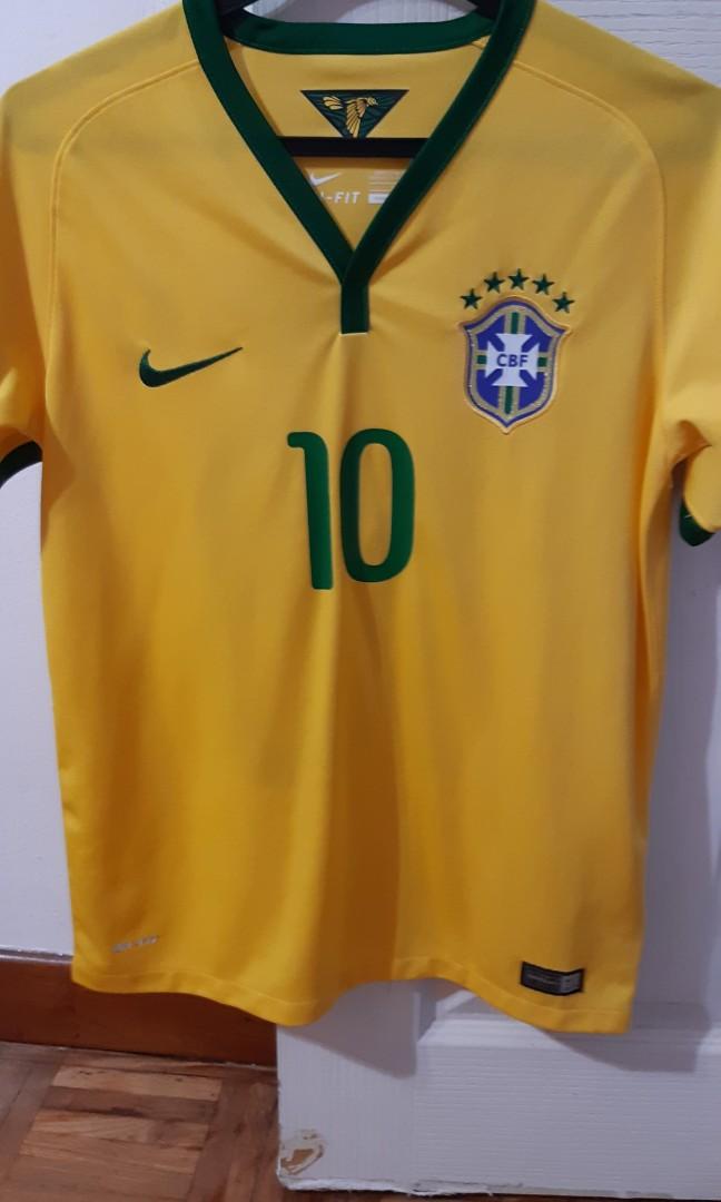 buy online 2e1db 23f47 Neymar No. 10 Brazil Nike authentic football jersey, Babies ...