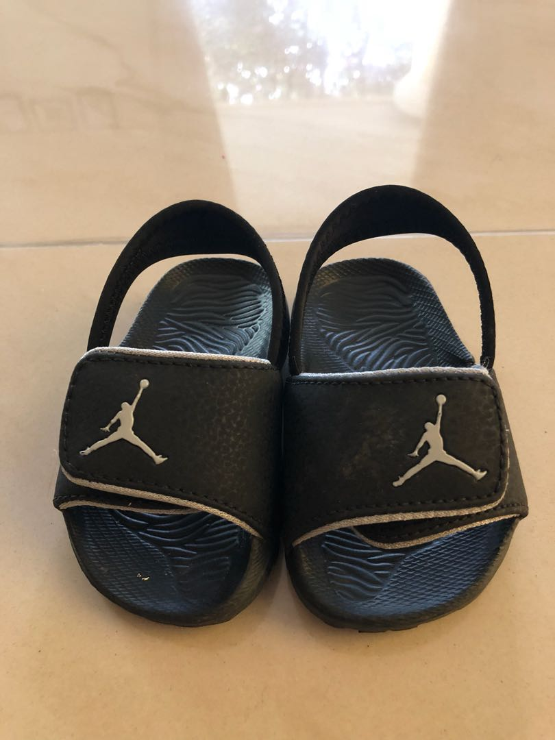 f638ceb5904d NIKE Boys  Toddler Jordan Hydro 6 Slide Sandals Black  size US 6 ...