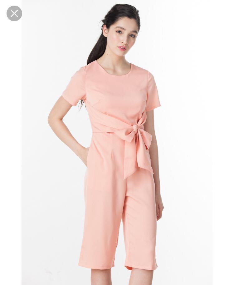 875d4e2927 Ninth collective Bow Cullotes Jumpsuit