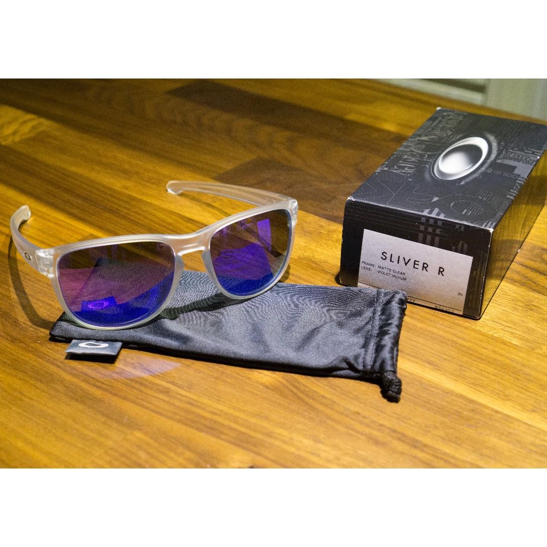 dddcc8288af Oakley SLIVER R • Violet Iridium Lens • Matte Clear Frame Sunglasses ...