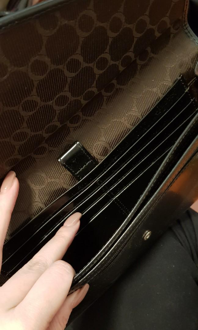 Oroton black wallet /clutch