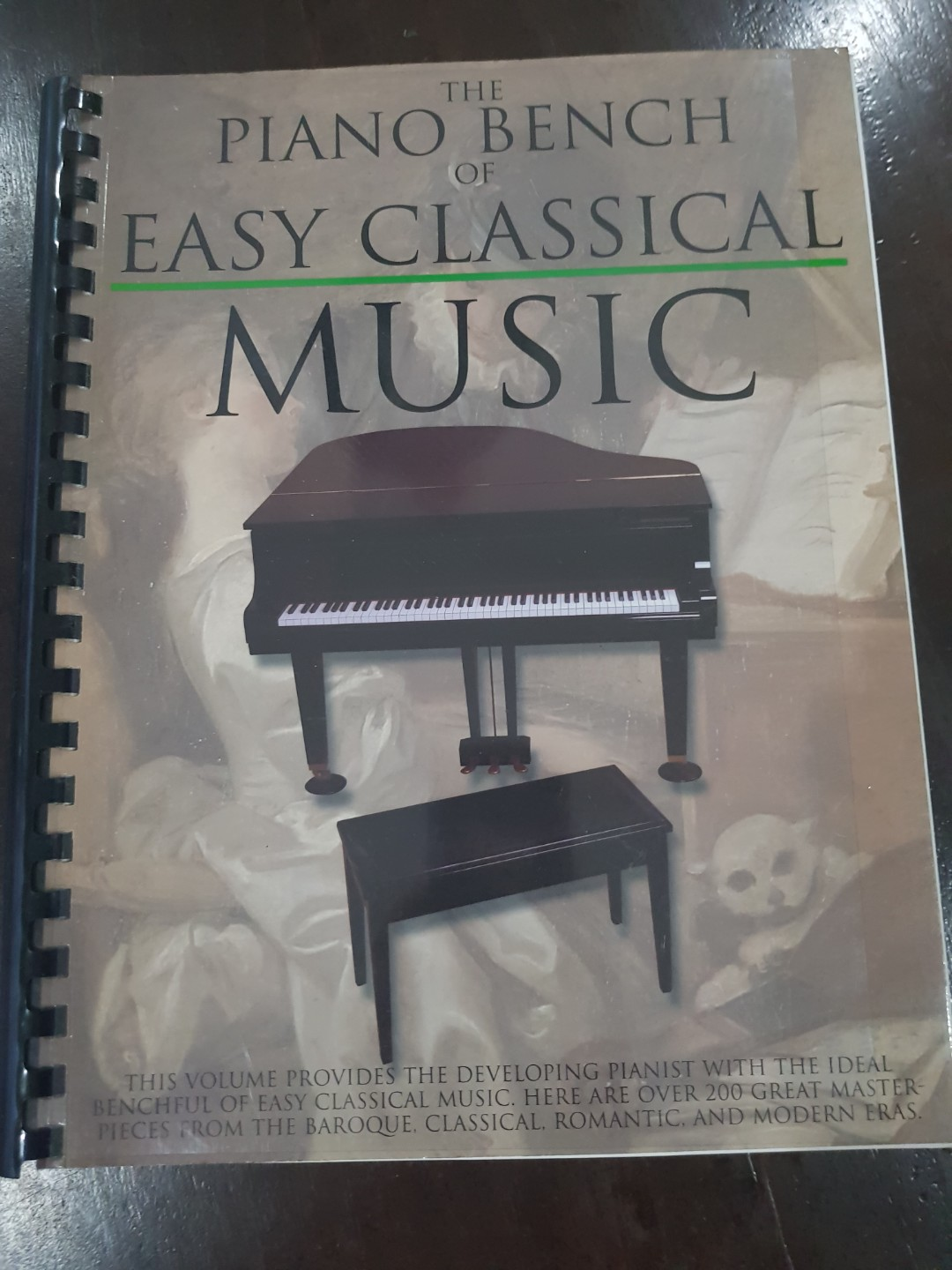 Piano Bench Easy Classical Music Book