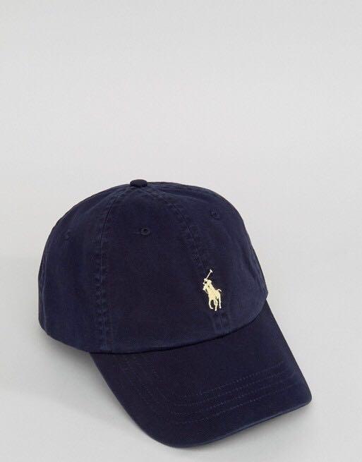 3126b7300dd Polo Ralph Lauren Baseball Cap Navy gold