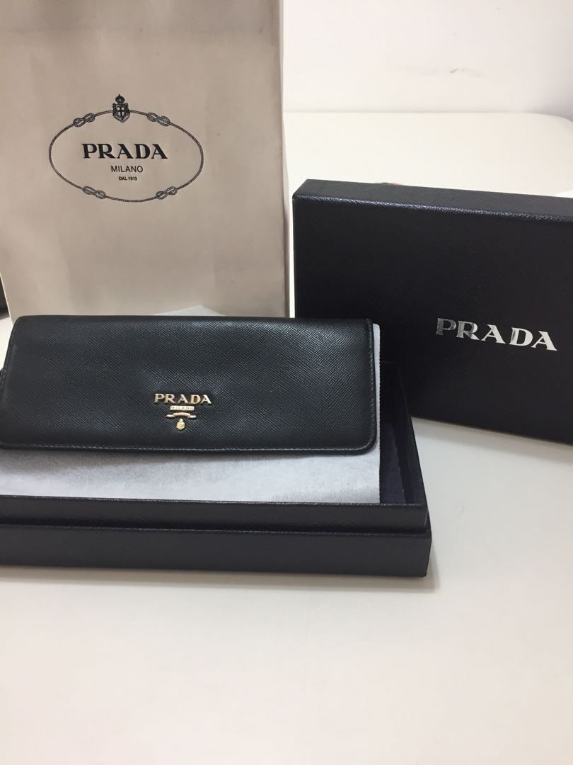 e2a64eae3efc Prada Long Wallet, Luxury, Bags & Wallets, Wallets on Carousell