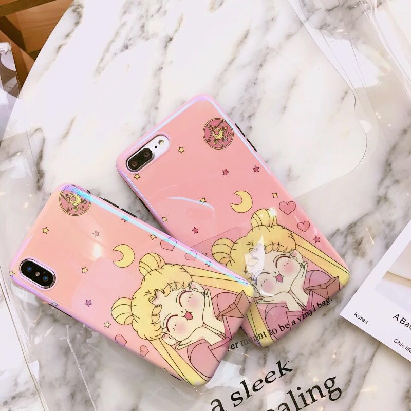 timeless design 57913 83ac1 SAILOR MOON CUTE LASER PINK PASTEL IPHONE CASE COVER