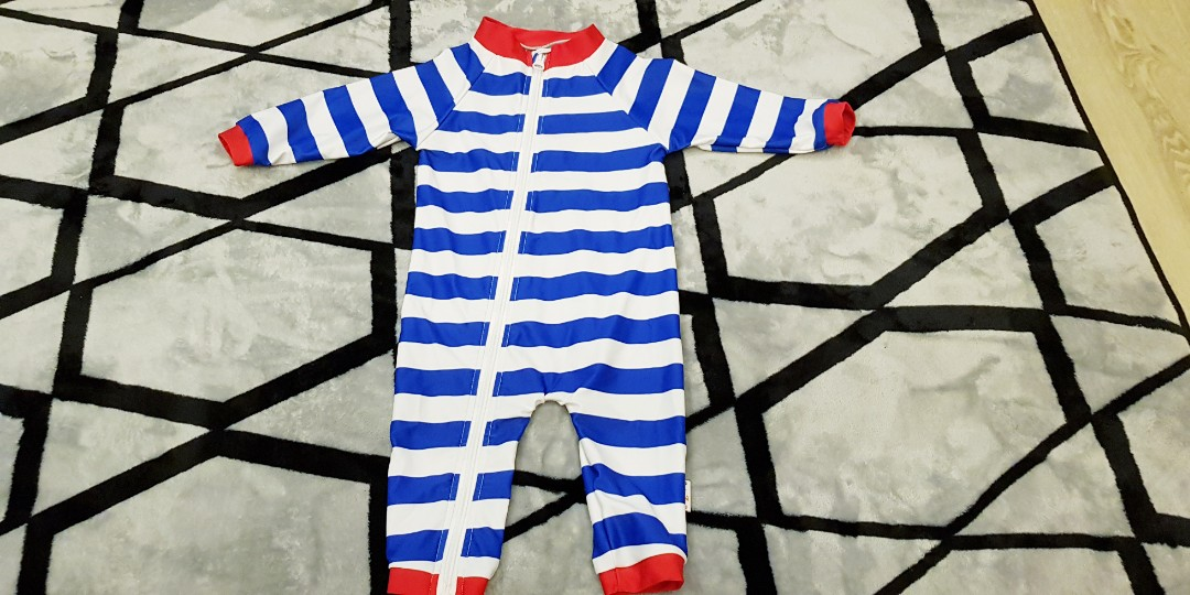0747b38e9d SwimZip Little Boy Long Sleeve Sunsuit with UPF 50 Sun Protection ...