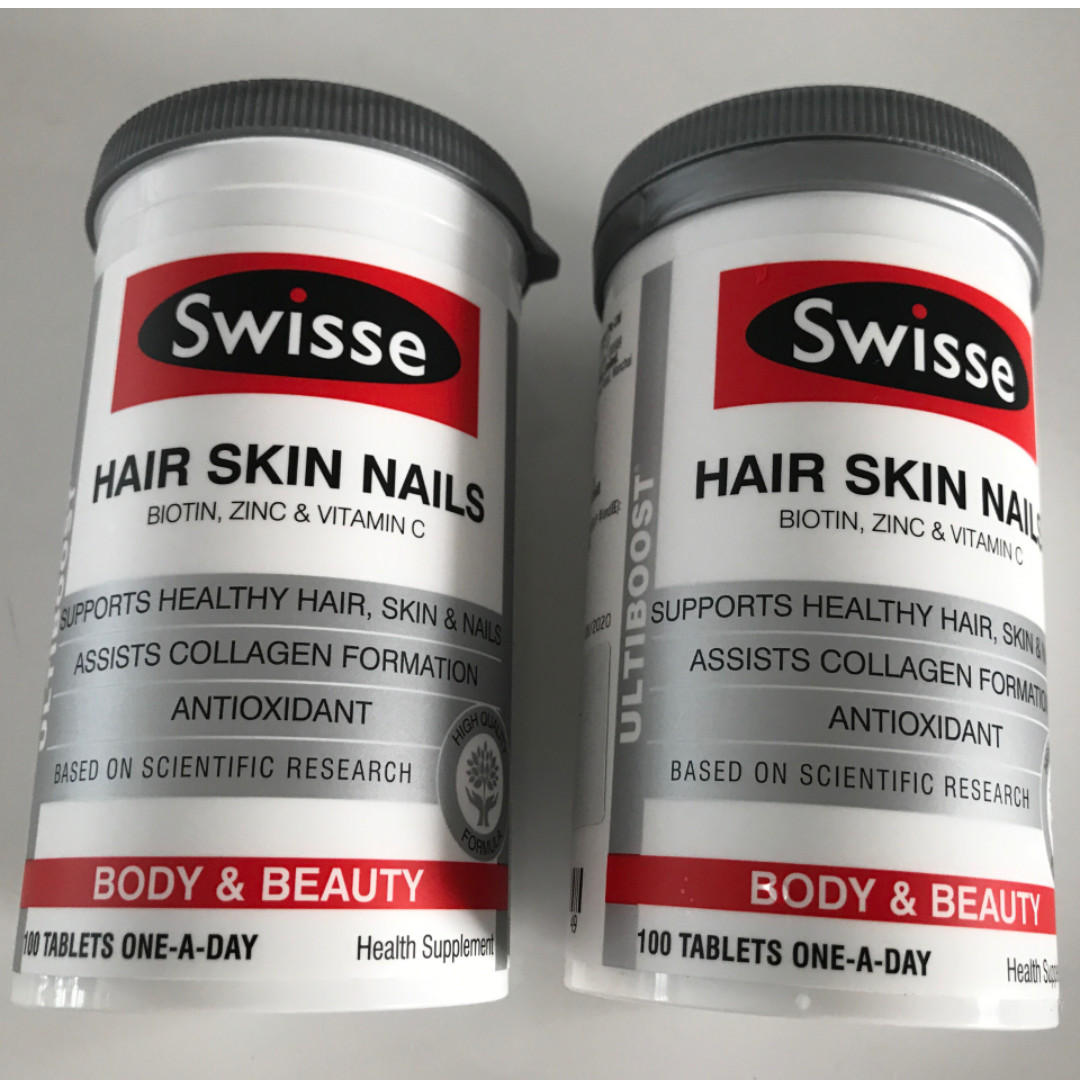 Swisse Ultiboost Hair Skin Nails 100 Tablets Brand New Health