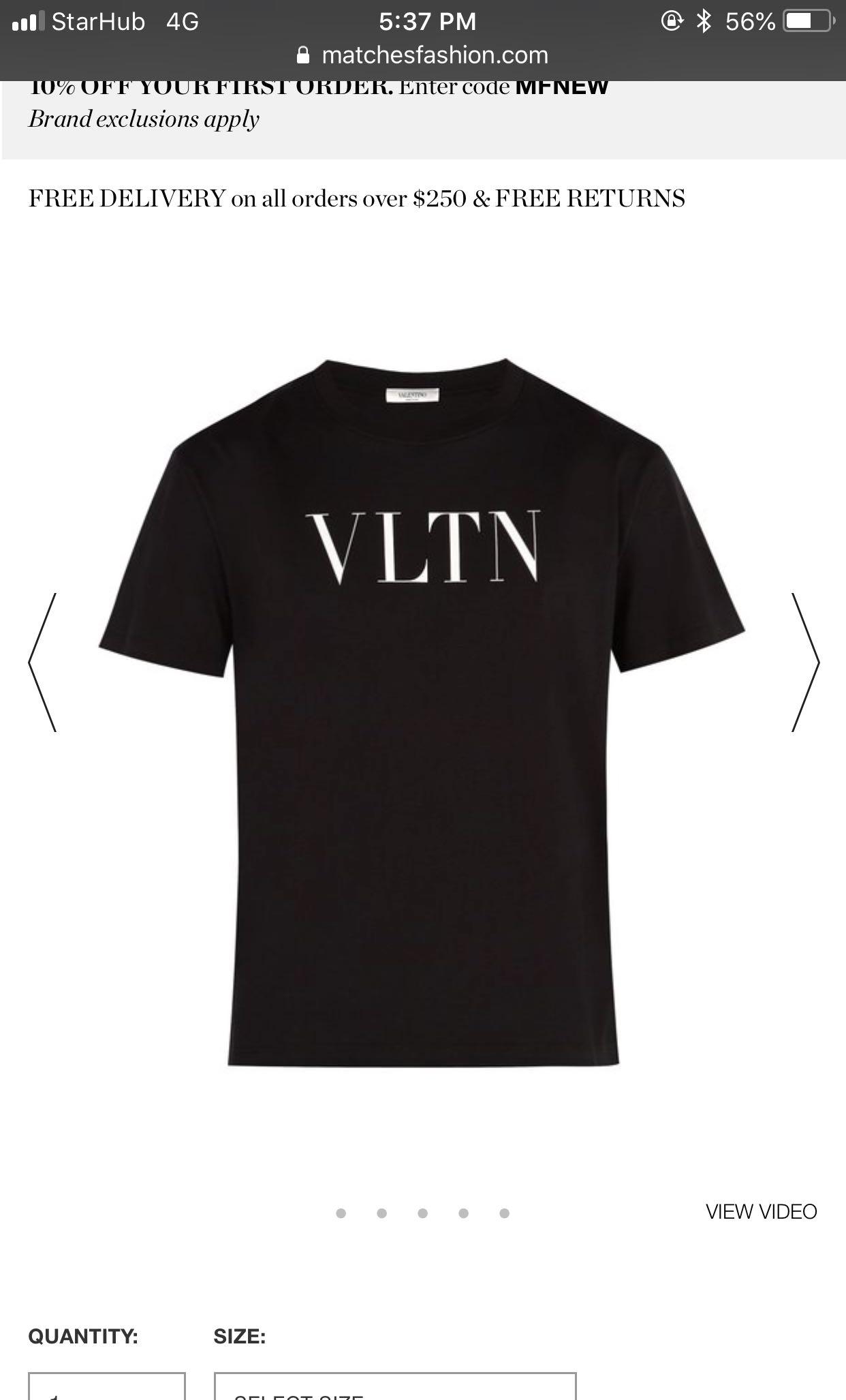14049220 Valentino Latest 'VLTN' T-shirt, Men's Fashion, Clothes, Tops on ...