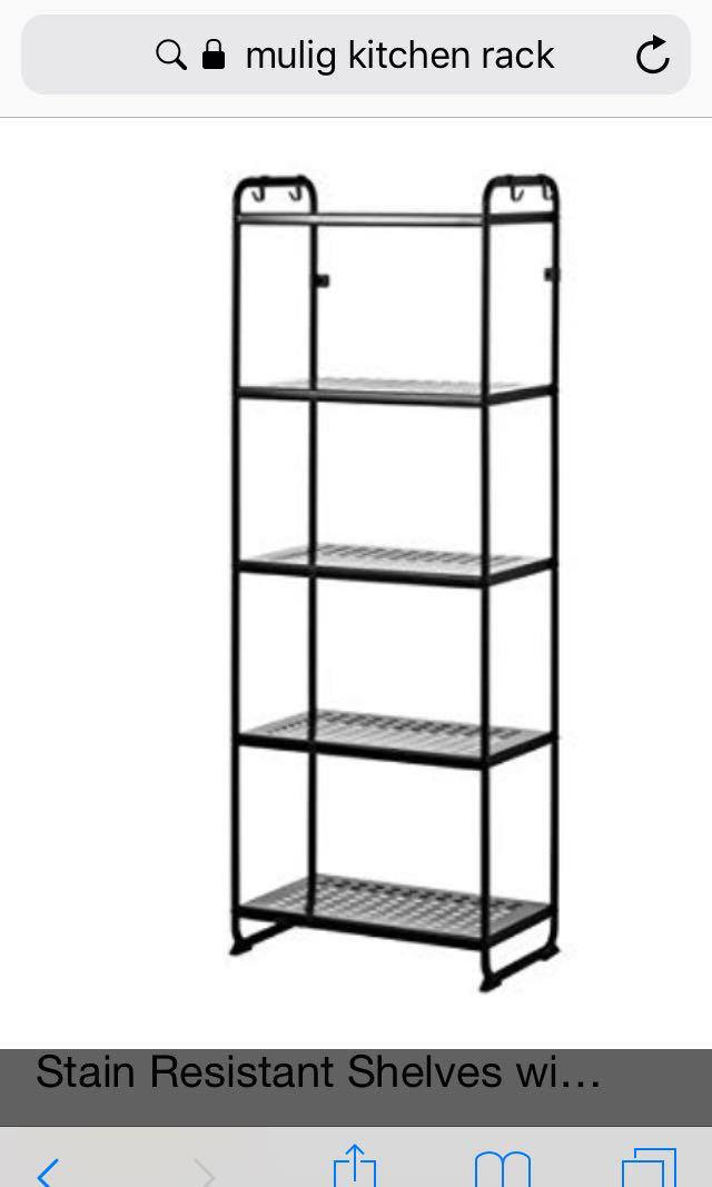 White Ikea Mulig Rack
