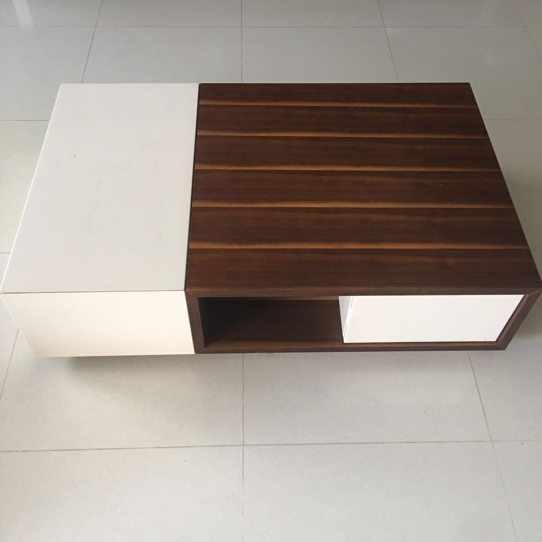 White Wooden Coffee Table Furniture