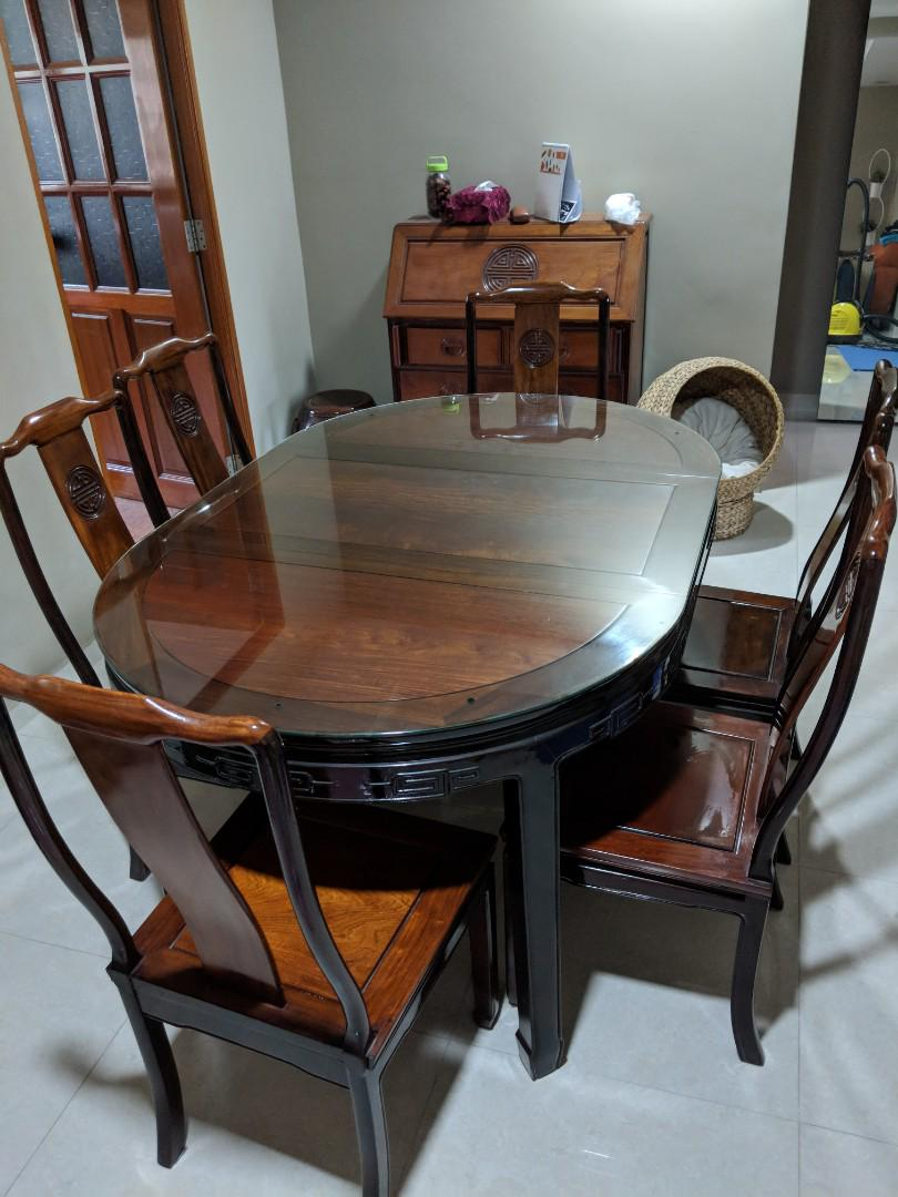 Wooden traditional chinese dining table set