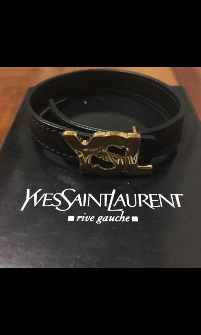 cf7b5057a5c3 YSL (Saint Laurent) Bracelet in Black   Gold