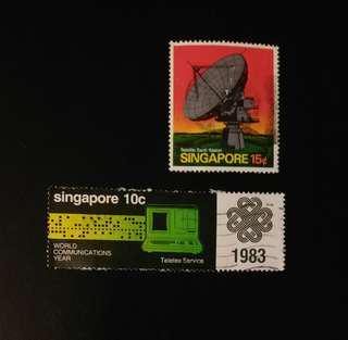 Vintage Singapore Stamps