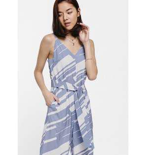 🚚 Love Bonito Peleyra Printed Tie Waist Jumpsuit