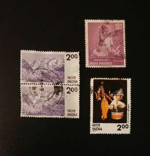 Vintage India Stamps