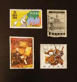 Vintage Macau Stamps