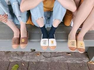 小熊維尼拼色平底鞋
