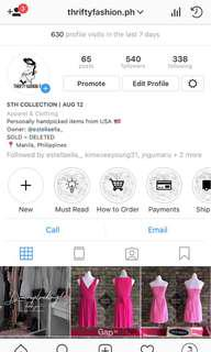 NEW COLLECTION ON IG @thriftyfashion.ph