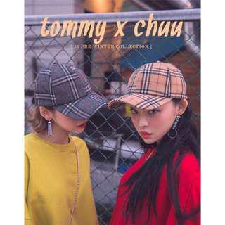 韓國購入🇰🇷正韓非淘寶貨❌Chuu 毛呢格紋老帽🖤實品超美😍