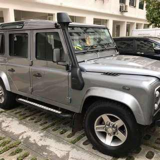 Land Rover Defender 110 7 seater Private Plate for wedding or event/mtv photo shoot