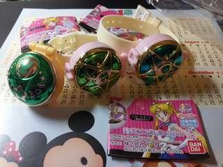 Sailors moon 美少女戰士扭蛋 玩具手錶 小盒掛飾