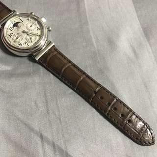 20mm/18mm Brown Croc/Alligator Leather Watch Strap