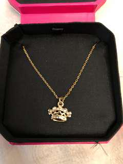 Juicy Couture gold crown necklace