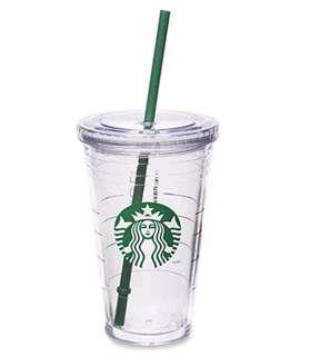 Starbucks acrylic Grande Cold Cup in clear