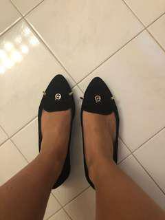 Michael Kors Black Suede Flats Size 5