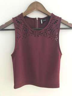 Urban Outfitters Sparkle & Fade crop top