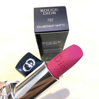 🇫🇷Dior迪奧 烈豔藍金啞光唇膏 Rouge DiorEXUBERANT MATTE #787 3.5g