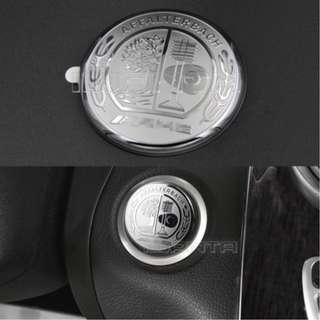 3D AMG Emblem Engine Push Start Button Cover Sticker For Benz C class W205 GLC