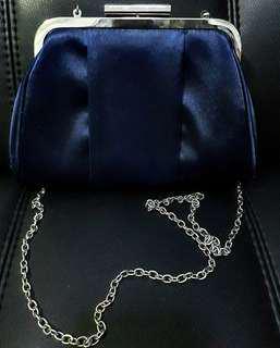 SM Blue Clutch and Sling Bag