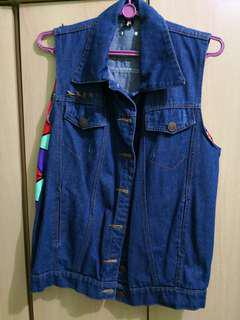 Denim Designed Vest (Fit size S perfectly)
