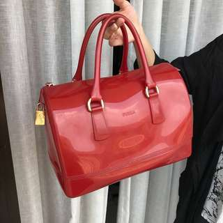 Furla Candy Bag On Red 22x16x3