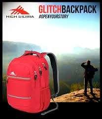 8折❌全新 High Sierra Glitch Backpack -Crimson 深紅