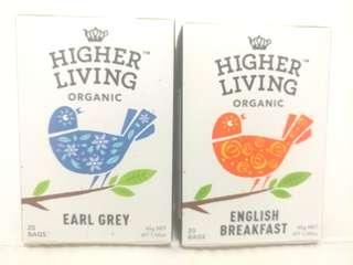 Higher Living Organic - Black Teas 有機紅茶系列 20 Teabags/box  Made In UK, $28/box (Orig $52/box)