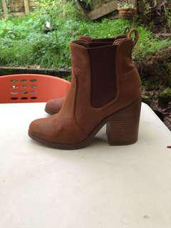 Leather boots (brown 7)
