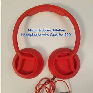 Nixon Trooper 3-Button Headphones with Case