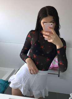Glassons Floral Mesh Top