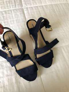 Navy blue George shoes size 5