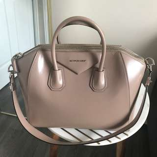 GIVENCHY MEDIUM ANTIGONA BEIGE TAUPE CALFSKIN SATCHEL.  Discounted for a limited time!
