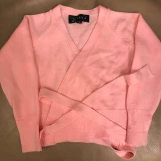 王仁曼芭蕾舞外套鮮粉紅
