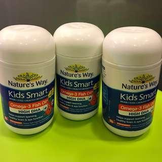 Kids smart fish oil capsules魚油