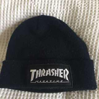 Black Thrasher Beanie OS