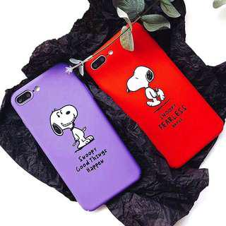 (PO) Peanuts Snoopy Dog Cartoon Quote Words iPhone Casing