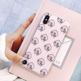 [OOS] (PO) Japan Peach Butt Man Makeup Cartoon iPhone Casing